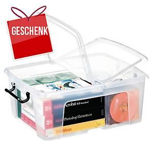 Aufbewahrungsbox Cep Strata, für 24 Liter Inhalt, mit Deckel, transparent