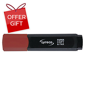 LYRECO HIGHLIGHTER - RED
