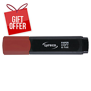 LYRECO HIGHLIGHTER RED - BOX OF 10