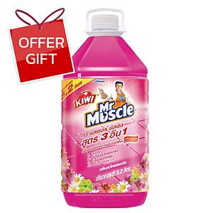 KIWI MR MUSCLE FLOOR 3IN1 CLEANER PINK 5200 MILLILITRES