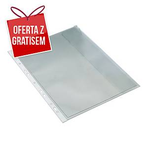 Koszulki groszkowe BANTEX z klapką boczną A4 MAXI, 110 mikronów, 10 sztuk