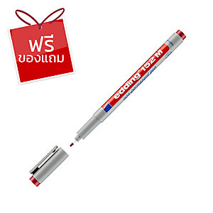EDDING ปากกาเขียนแผ่นใสลบได้ 152M 1.0มม. แดง