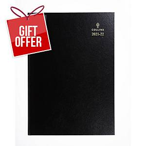 Collins Desk Academic Diary Black A4 - Page a Day