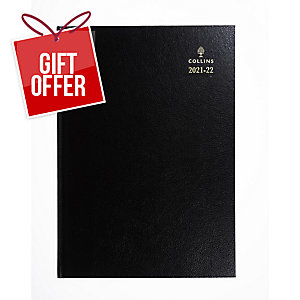COLLINS ECO ACADEMIC DIARY BLACK A4 - PAGE A DAY