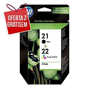 Zestaw tuszów HP 21/22 SD367AE czarny/kolorowy CMY