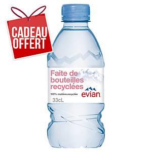 Eau Evian 33 cl - plateau de 24 bouteilles