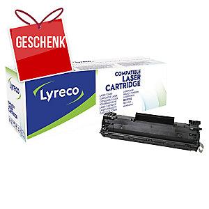 Toner Lyreco kompatibel mit HP CB436A, Reichweite: 2.000 Seiten, schwarz