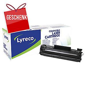 Toner Lyreco kompatibel mit HP CB435A und Canon 712 Reichweite: 1.500 S, schwarz