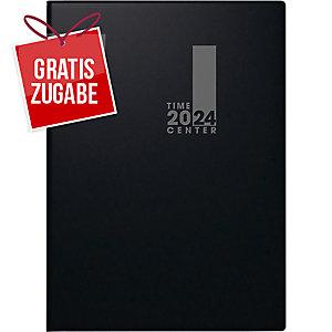 Taschenkalender 2020 Brunnen 72956 Timecenter, 1 Woche / 2 Seiten, A6, schwarz