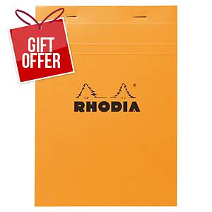 RHODIA 16200 NOTEPAD A5 5X5 ORGE