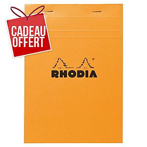 Bloc rhodia agrafe en-tête 80g 80 feuilles A5 quadrille 5x5