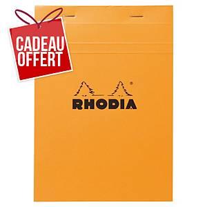 Bloc-notes Rhodia - A5 - 160 pages - blanc quadrillé