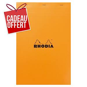 Bloc-notes Rhodia - A4+ - 160 pages - blanc quadrillé