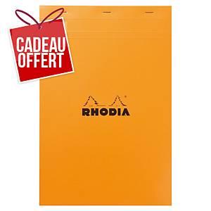 Bloc-notes Rhodia - A4+ - 160 pages - blanc quadrillé
