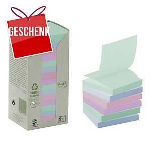 3M Post-it® R330 Z-Haftnotizen recycelt, 76 x 76 mm, bunt, 16 Blöcke/100 Blatt