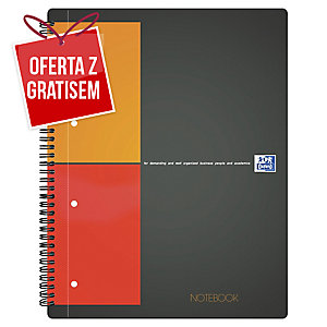 Kołobrulion Oxford International Notebook, A4+, kratka, 80 kartek