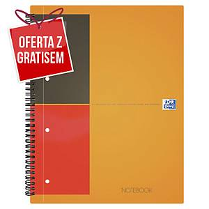 Kołobrulion Oxford International Notebook, A4+, linia, 80 kartek, twarda okładka