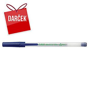 Guľôčkové pero Bic Ecolutions Round Stic, neklikacie, modré