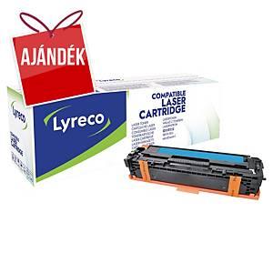Lyreco kompatibilis toner HP 125A (CB541A)/Canon CRG716 (1979B002), ciánkék