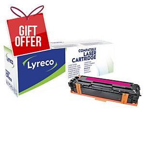 Lyreco Laser Cartridge Hp Compatible Cljcp1215/Cm1312 Cb543A - Magenta