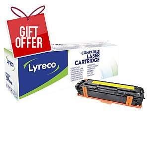 Lyreco Laser Cartridge Hp Compatible Cljcp1215/Cm1312 Cb542A - Yellow
