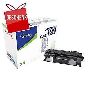 Toner Lyreco kompatibel mit HP CE505A  Reichweite: 2.300 S, schwarz