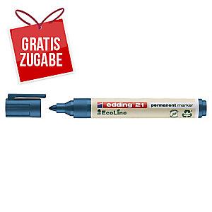 Permanentmarker edding 21, Rundspitze, Strichstärke: 1,5-3mm, blau