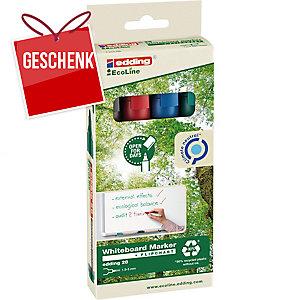 Boardmarker Edding 28 Ecoline, Rundspitze, Strichbreite 1,5-3 mm, 4er-Set, ass.