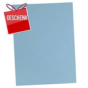 Einlagemappe Lyreco für A4 235x315 mm, Karton 220 g/m2, blau, Pk. à 100 Stk.