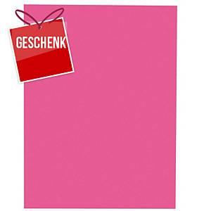 Einlagemappe Lyreco für A4 235x315 mm, Karton 220 g/m2, rosa, Pk. à 100 Stk.