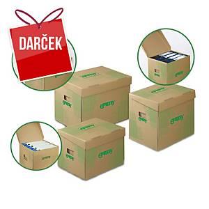 Archivačné úložné krabice Emba, 42,5 x 33 x 30 cm, prírodné, balenie 10 ks