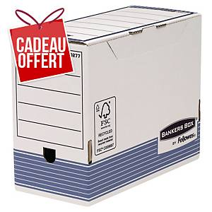 Boîte d archives Bankers Box System A4+ - automatique - dos 15 cm - par 10