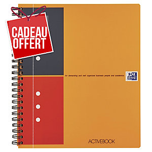 Cahier spirale Oxford Activebook A5+ - 160 pages - ligné