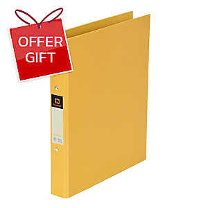 ELEPHANT 221 2-O-RING BINDER FOLDER A4 1   GOLD