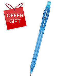 QUANTUM GELOPLUS 007 RAINBOW RETRACTABLE BALLPOINT PEN 0.7MM BLUE - PACK OF 50