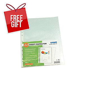 BINDERMAX CLEAR A4 11 HOLE PROTECTOR SHEETS - PACK OF 10