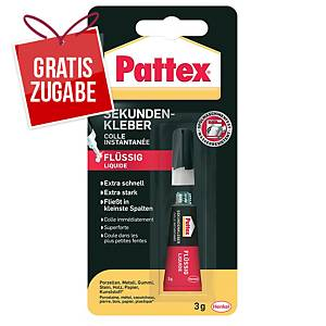 Sekundenkleber Pattex PSK1C, Flüssig, 3g