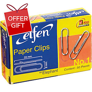ELFEN ROUND CLIPS NICKELED 33MM - BOX OF 50