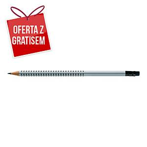 Ołówek FABER-CASTELL GRIP 2001 twardość HB z gumką, opakowanie 12 sztuk