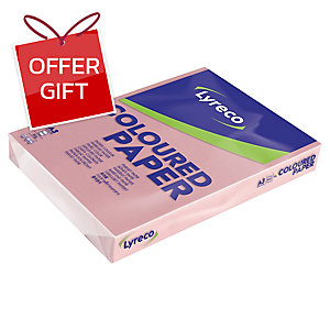 LYRECO PAPER A3 80GSM PINK - REAM OF 500 SHEETS