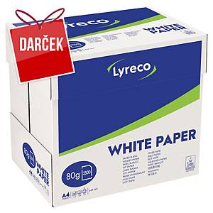 Papier Lyreco - multibox, A4 80 g/m² - biely, 2500 listov