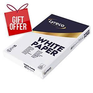 Lyreco Premium White A3 Paper 80Gsm - Box Of 3 Reams (1500 Sheets)