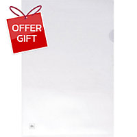 ELEPHANT PLASTIC FOLDER A4 WHITE 12 PCS.