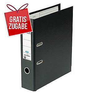 Ordner Elba Rado 10497, PVC-kaschiert, A4, Rückenbreite: 80mm, schwarz