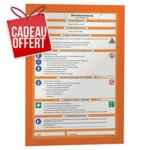 Cadre d affichage Durable Duraframe - A4 - adhésif - orange - paquet de 2