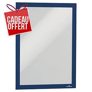 Cadre d affichage Durable Duraframe - A4 - adhésif - bleu - paquet de 2