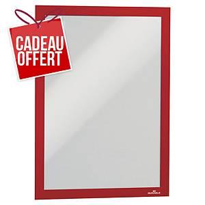 Cadre d affichage Durable Duraframe - A4 - adhésif- rouge - paquet de 2