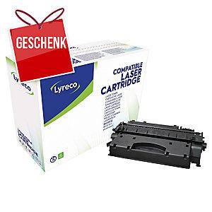 Toner Lyreco kompatibel mit HP CE505X Reichweite: 6.500 S, schwarz