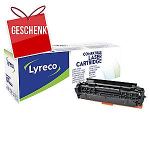 Toner Lyreco kompatibel mit HP CC530A/ Canon 718 BK Reichweite: 3.500 S, schwarz