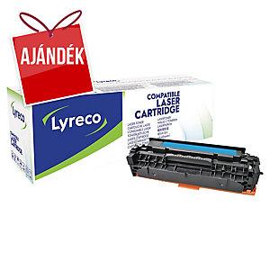 Lyreco kompatibilis HP CC531A toner lézernyomtatókhoz, kék